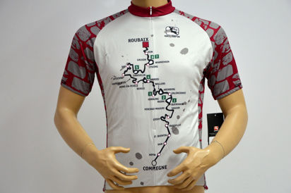 Picture of Camisola Giordana Tecnical Arts Paris-Roubaix
