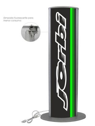 Picture of Display Box Tower iluminado c/ base Jorbi 1.33mt x 0.35mt preto/verde