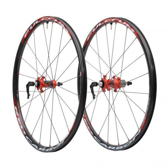 Picture of Rodas Fulcrum Red Carbon XRP disc 6 furos (par)