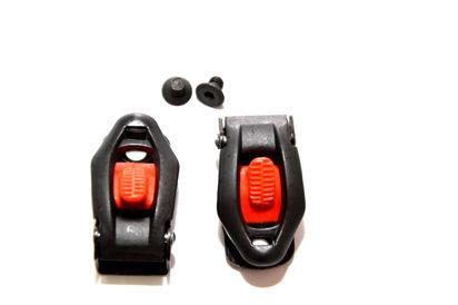 Picture of Fechos milimétricos D-MicroLook preto/vermelho (par)