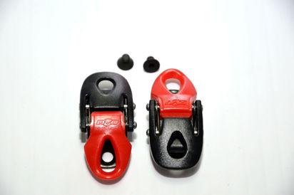 Picture of Fechos milimétricos preto/vermelho (par)