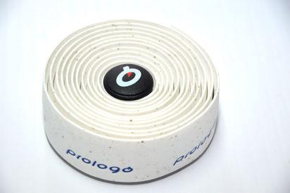 Picture of Fita de guiador Prologo PlainTouch branco c/ logo azul