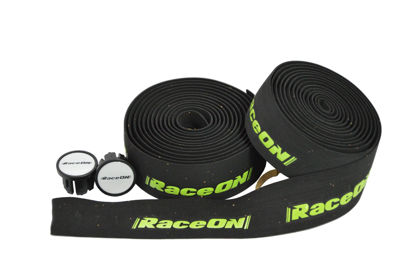 Picture of Fita de guiador RaceOn c/ logo - preto/verde