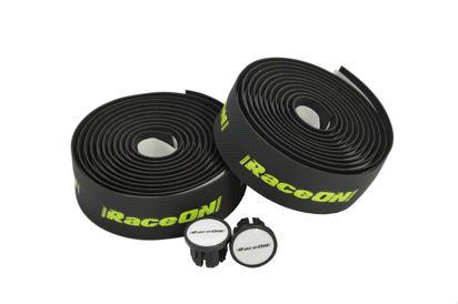 Picture of Fita de guiador RaceOn Vex Gel c/ logo - preto/verde