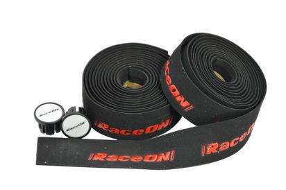 Picture of Fita de guiador RaceOn c/ logo - preto/vermelho