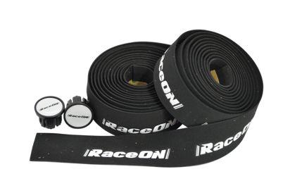 Picture of Fita de guiador RaceOn c/ logo - preto/branco
