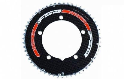 Picture of Roda pedaleira FSA VISION AERO TT Carbon preto 130BCD S10 - 55T