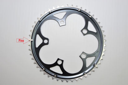 Picture of Roda pedaleira Veloce Infinitive preta 110x50T 10v >2006