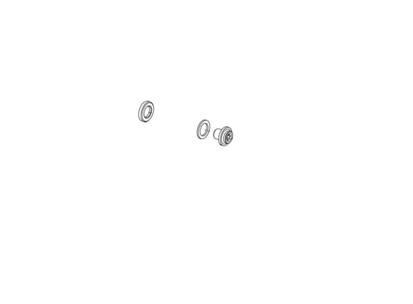 Picture of Conjunto porca e anilhas porta-calços Preto Record 12v (4 conjuntos)
