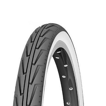 Picture of Pneu Michelin Diabolo City 24x1 3/8x1 1/4 preto/branco