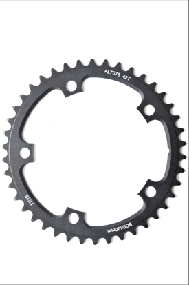 Picture of Roda Pedaleira Time Trial 10/11v 7075 CNC Black BCD 130x42T (interno)