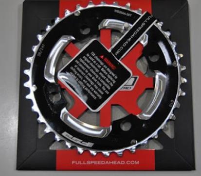 Picture of Roda pedaleira Pro MTB preto Alu104x38 M10/X10 WB264