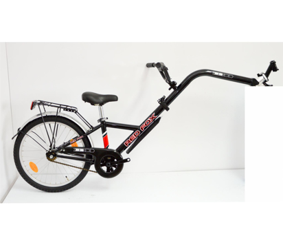 "Picture of Tandem Bike 20"" Co-pilot RED FOX 1 - preto"