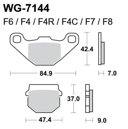 Picture of Pastilhas Travão Disco WRP  WG-7144-F4 - REAR