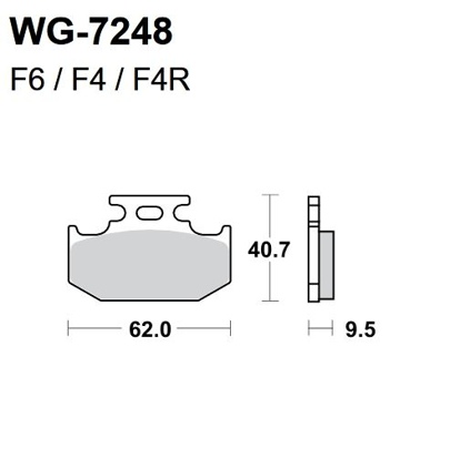 Picture of Pastilhas Travão Disco WRP  WG-7248-F4R - REAR