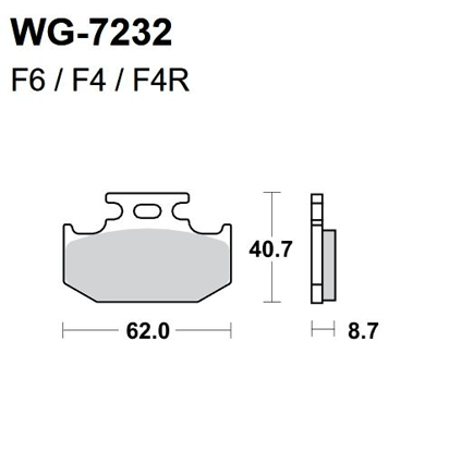 Picture of Pastilhas Travão Disco WRP  WG-7232-F4R - REAR