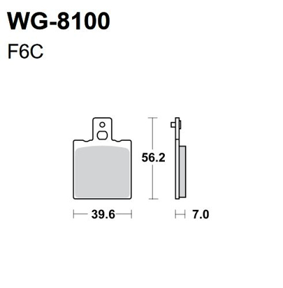 Picture of Pastilhas Travão Disco WRP  WG-8100-F6C