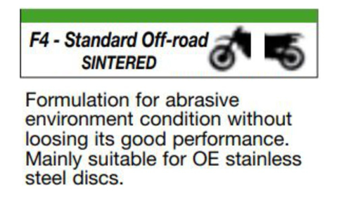 Picture for category F4 - STANDARD OFF-ROAD - SINTERED