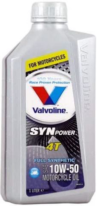 Picture of ÓLEO VALVOLINE SYNPOWER 4T 10W50 - 1LT - FULL SYNTHETIC