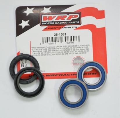 Picture of Kit Rolamentos + retentores roda WRP - WY-25-1081 - HONDA CR125-250 1995/2007, KTM - FRENTE