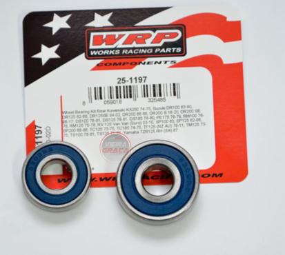 Picture of Kit Rolamentos + retentores roda WRP - WY-25-1197 - KAWASAKI KX250, SUZUKI 100-200 - TRÁS