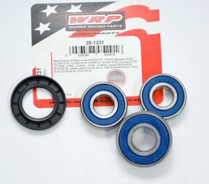 Picture of Kit Rolamentos + retentores roda WRP - WY-25-1231 - HONDA NX250/XL250-600, SUZUKI SP/DR250, YAMAHA XT250 - TRÁS